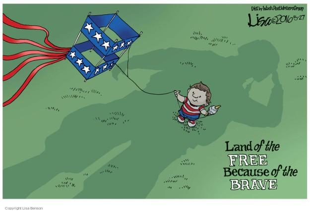 Cartoonist Lisa Benson  Lisa Benson's Editorial Cartoons 2016-05-27 Memorial Day