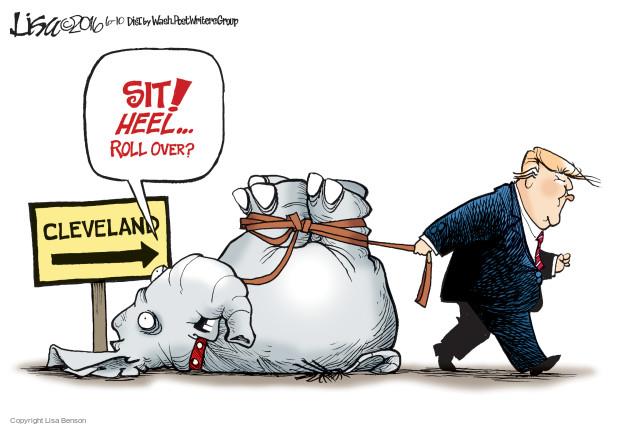 Cartoonist Lisa Benson  Lisa Benson's Editorial Cartoons 2016-06-10 presidential leadership
