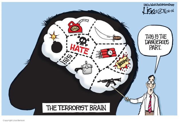 Cartoonist Lisa Benson  Lisa Benson's Editorial Cartoons 2016-06-14 gun massacre