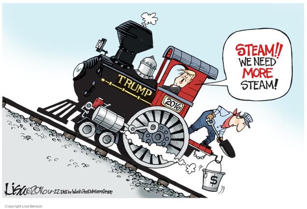Cartoonist Lisa Benson  Lisa Benson's Editorial Cartoons 2016-06-22 train