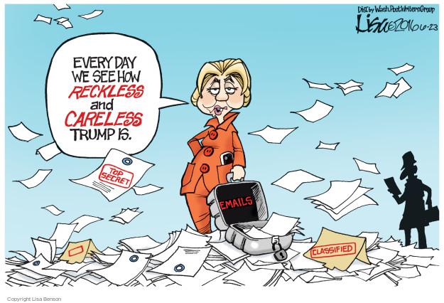 Cartoonist Lisa Benson  Lisa Benson's Editorial Cartoons 2016-06-23 election