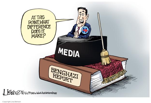 Cartoonist Lisa Benson  Lisa Benson's Editorial Cartoons 2016-06-29 congressional investigation