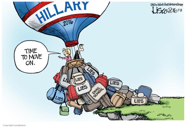 Cartoonist Lisa Benson  Lisa Benson's Editorial Cartoons 2016-07-08 election
