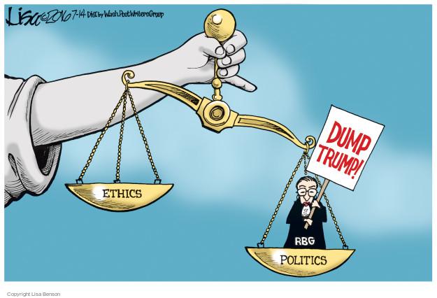 Dump Trump! Ethics. Politics.