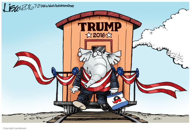 Cartoonist Lisa Benson  Lisa Benson's Editorial Cartoons 2016-07-21 election