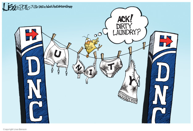 Cartoonist Lisa Benson  Lisa Benson's Editorial Cartoons 2016-07-26 election