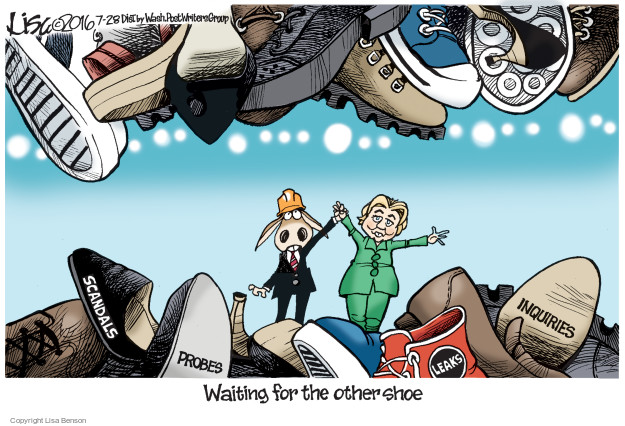 Scandals. Probes. Leaks. Inquiries. Waiting for the other shoe.