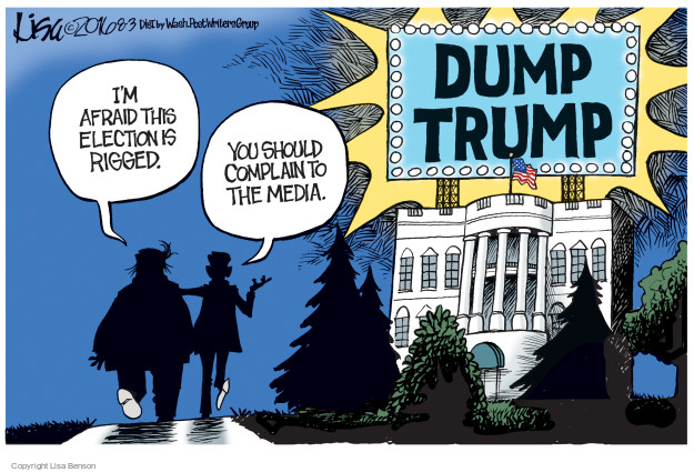 Cartoonist Lisa Benson  Lisa Benson's Editorial Cartoons 2016-08-03 white