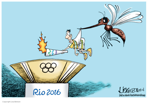 Cartoonist Lisa Benson  Lisa Benson's Editorial Cartoons 2016-08-04 Zika virus