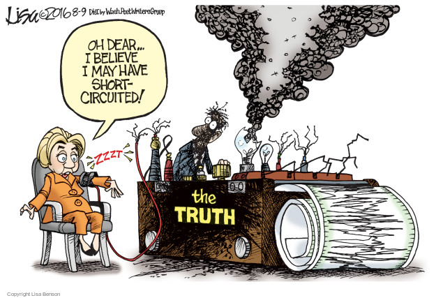 Cartoonist Lisa Benson  Lisa Benson's Editorial Cartoons 2016-08-09 election