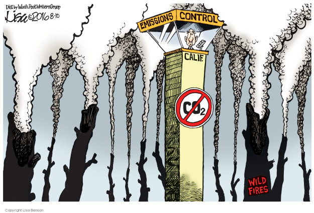 Cartoonist Lisa Benson  Lisa Benson's Editorial Cartoons 2016-08-10 dioxide