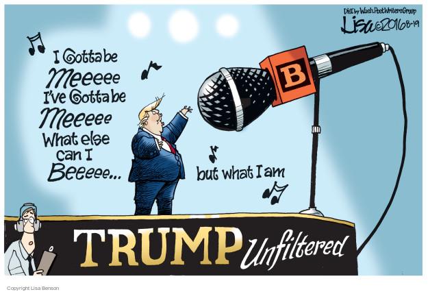 Cartoonist Lisa Benson  Lisa Benson's Editorial Cartoons 2016-08-19 election journalism