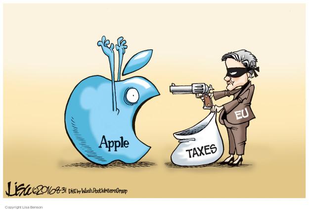 Cartoonist Lisa Benson  Lisa Benson's Editorial Cartoons 2016-08-31 tax liability