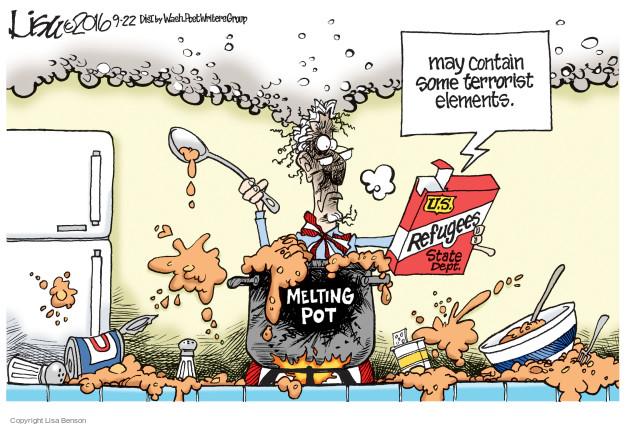 Lisa Benson  Lisa Benson's Editorial Cartoons 2016-09-22 terrorist