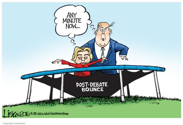 Any minute now … Post-debate bounce.