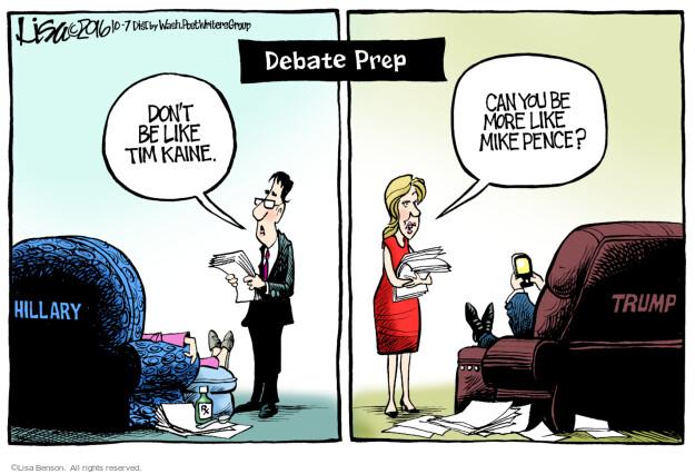 Lisa Benson  Lisa Benson's Editorial Cartoons 2016-10-07 Mike Pence