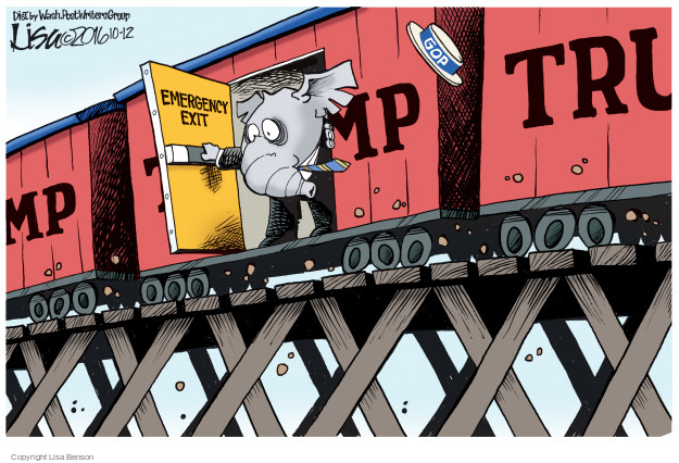Cartoonist Lisa Benson  Lisa Benson's Editorial Cartoons 2016-10-12 train