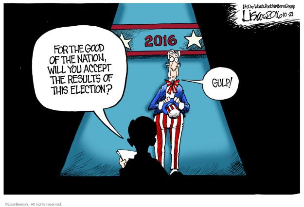 Lisa Benson  Lisa Benson's Editorial Cartoons 2016-10-21 election result