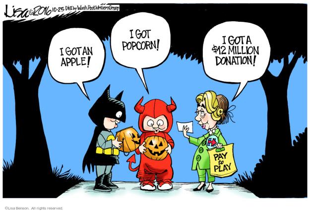 Lisa Benson  Lisa Benson's Editorial Cartoons 2016-10-25 $12