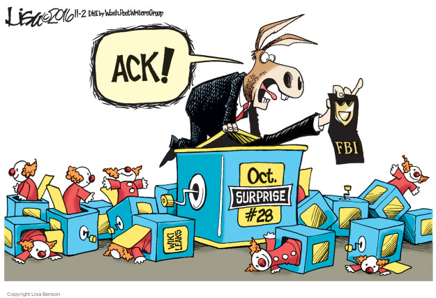 Cartoonist Lisa Benson  Lisa Benson's Editorial Cartoons 2016-11-02 intelligence