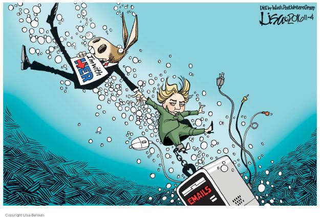 Cartoonist Lisa Benson  Lisa Benson's Editorial Cartoons 2016-11-04 intelligence