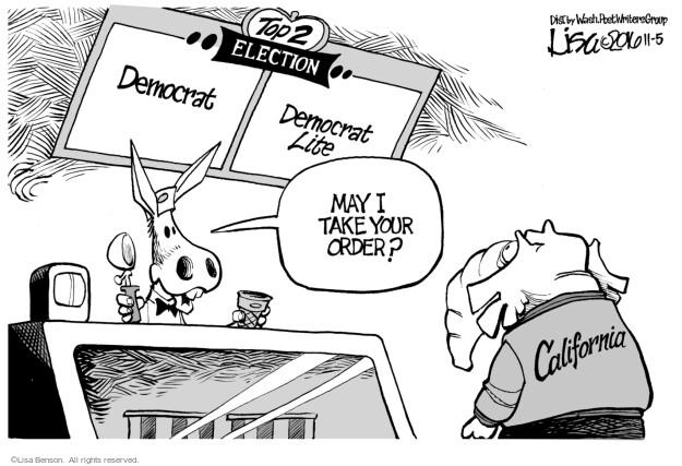 Cartoonist Lisa Benson  Lisa Benson's Editorial Cartoons 2016-11-05 republican candidate