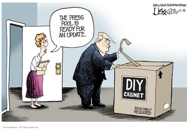 Lisa Benson  Lisa Benson's Editorial Cartoons 2016-11-18 election result
