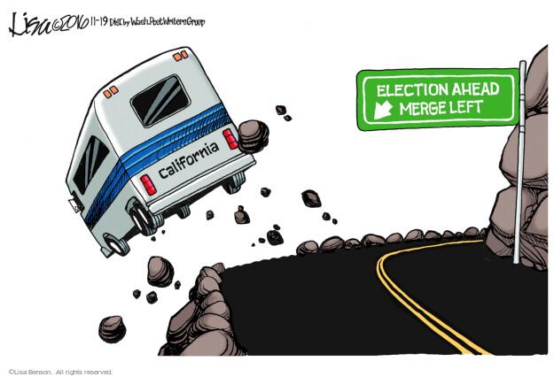 Lisa Benson  Lisa Benson's Editorial Cartoons 2016-11-19 election result