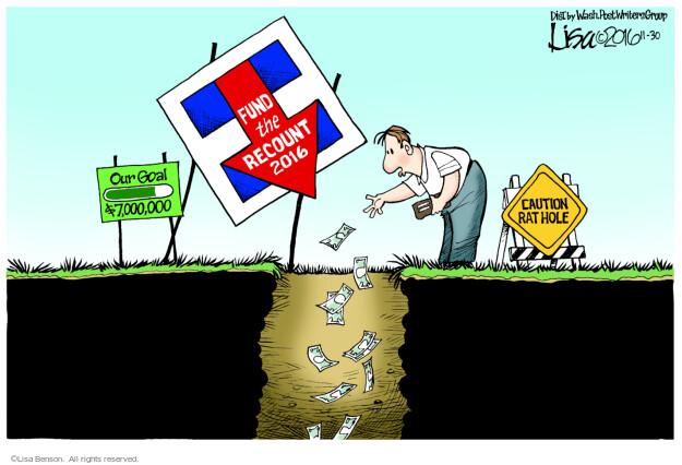 Cartoonist Lisa Benson  Lisa Benson's Editorial Cartoons 2016-11-30 Hillary Clinton