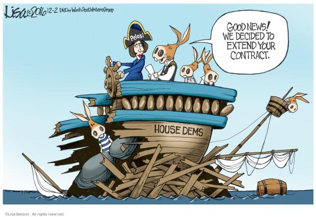 Cartoonist Lisa Benson  Lisa Benson's Editorial Cartoons 2016-12-02 house minority leader