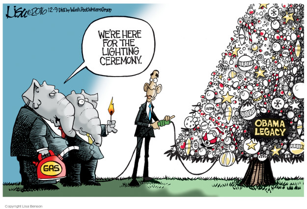 Lisa Benson  Lisa Benson's Editorial Cartoons 2016-12-09 Barack Obama