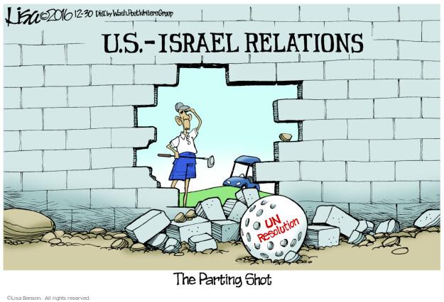 Cartoonist Lisa Benson  Lisa Benson's Editorial Cartoons 2016-12-30 Presidency