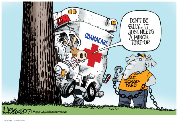 Lisa Benson  Lisa Benson's Editorial Cartoons 2017-01-05 affordable care act