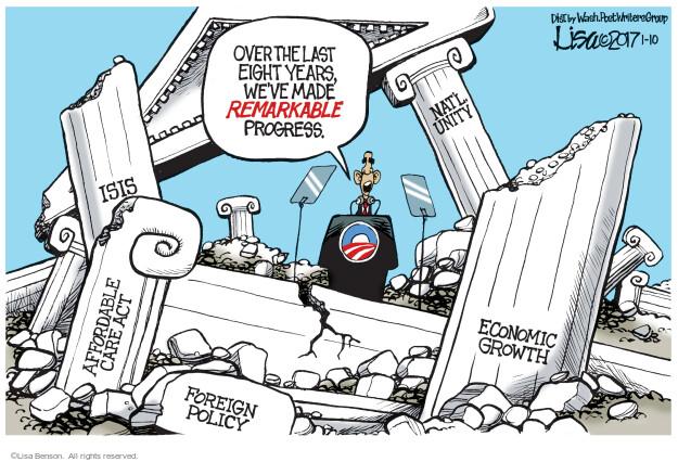 Cartoonist Lisa Benson  Lisa Benson's Editorial Cartoons 2017-01-10 Obama terrorism