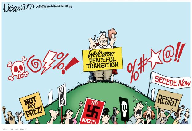 Cartoonist Lisa Benson  Lisa Benson's Editorial Cartoons 2017-01-31 Presidency