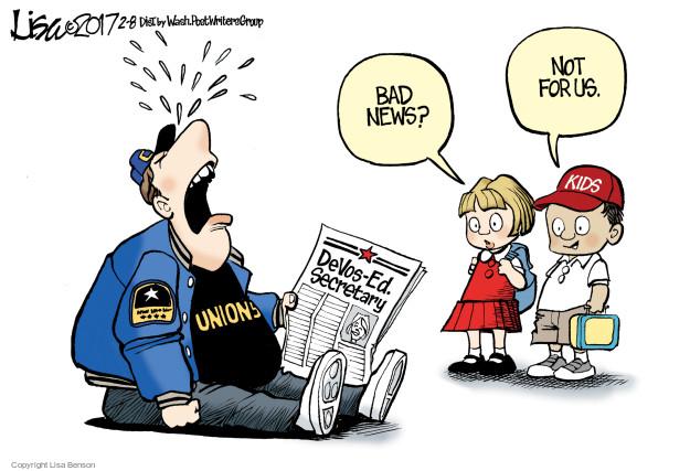 Cartoonist Lisa Benson  Lisa Benson's Editorial Cartoons 2017-02-08 union
