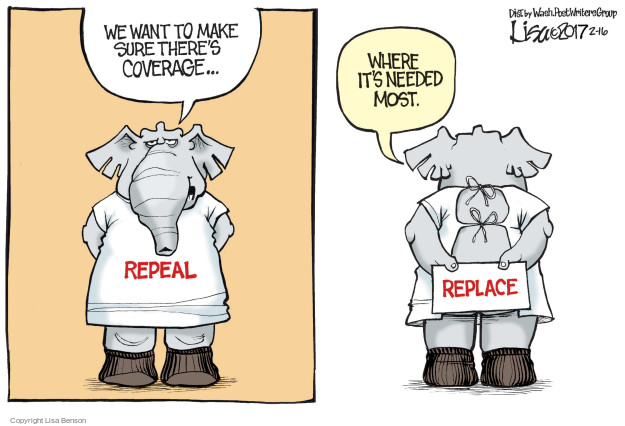 Lisa Benson  Lisa Benson's Editorial Cartoons 2017-02-16 affordable care act