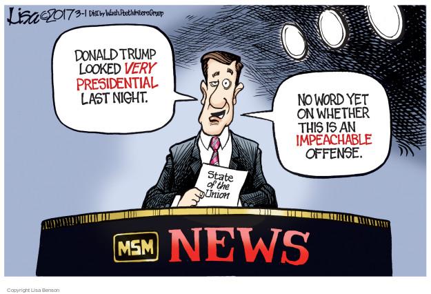 Cartoonist Lisa Benson  Lisa Benson's Editorial Cartoons 2017-03-01 reporter