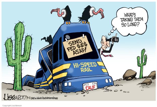 Cartoonist Lisa Benson  Lisa Benson's Editorial Cartoons 2017-03-11 train