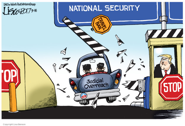 Cartoonist Lisa Benson  Lisa Benson's Editorial Cartoons 2017-03-18 presidential security
