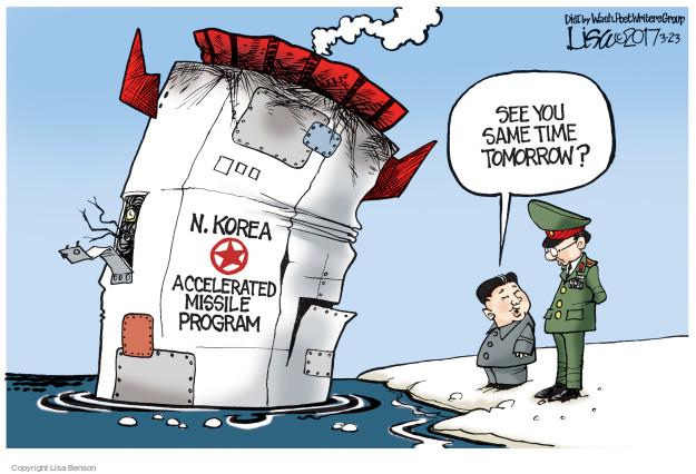Cartoonist Lisa Benson  Lisa Benson's Editorial Cartoons 2017-03-23 military