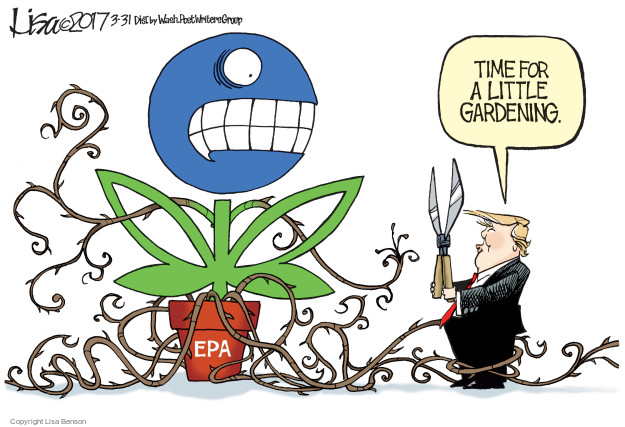Cartoonist Lisa Benson  Lisa Benson's Editorial Cartoons 2017-03-31 Environmental Protection Agency