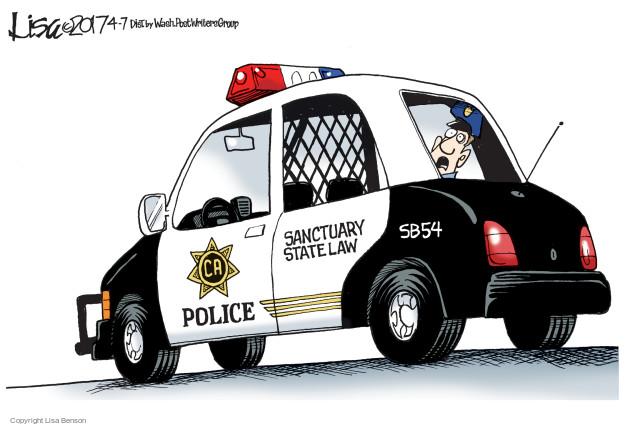 Cartoonist Lisa Benson  Lisa Benson's Editorial Cartoons 2017-04-07 political asylum