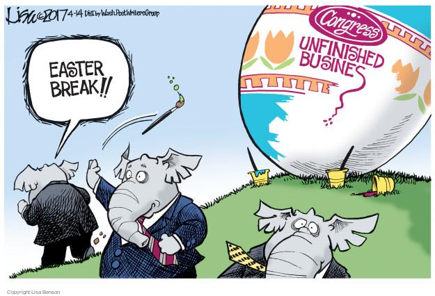 Cartoonist Lisa Benson  Lisa Benson's Editorial Cartoons 2017-04-14 business