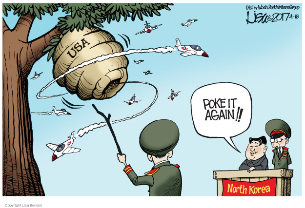 USA. Poke it again!! North Korea.