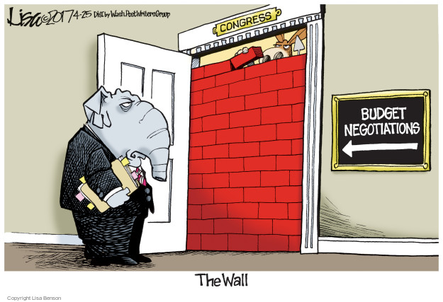 Congress. Budget negotiations. The Wall.