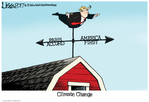 Cartoonist Lisa Benson  Lisa Benson's Editorial Cartoons 2017-06-03 environmental protection