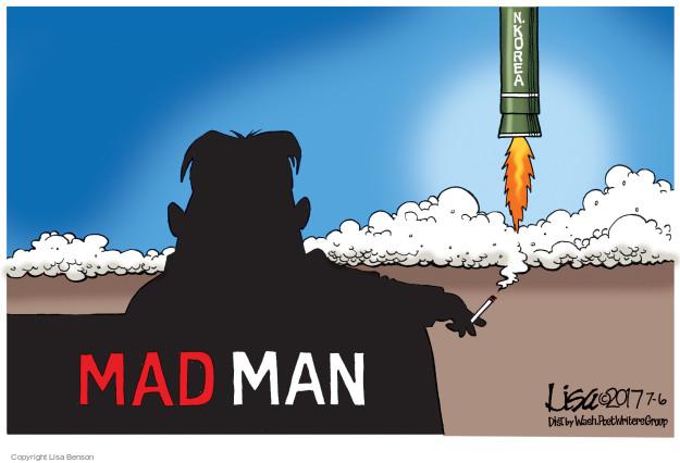 Cartoonist Lisa Benson  Lisa Benson's Editorial Cartoons 2017-07-05 missile