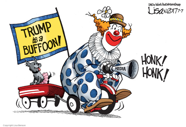 Cartoonist Lisa Benson  Lisa Benson's Editorial Cartoons 2017-07-06 Donald Trump