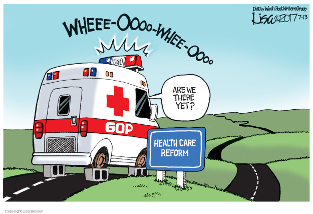 Lisa Benson  Lisa Benson's Editorial Cartoons 2017-07-13 affordable care act